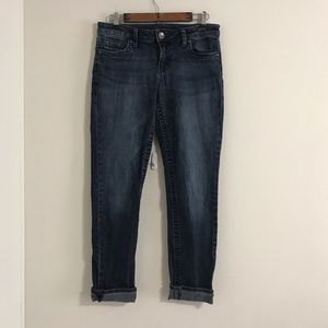 Kut from the Kloth Mid-rise Straight Leg Jeans